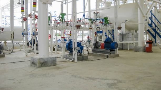 Centrifugal pumps that pump gasoline. Pump refinery. Centrifugal pumps that pump gasoline. Pump refinery. Oil refinery. Equipment for primary oil refining. centrifuge stock pictures, royalty-free photos & images