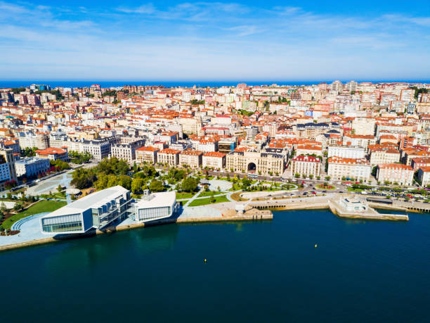 Centro Botin Center in Santander Centro Botin or Botin Center is a cultural facility building located in Santander, Spain cantabria stock pictures, royalty-free photos & images