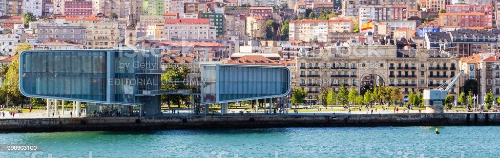 Centro de exposiciones del Centro botín en el puerto de Santander, España - foto de stock