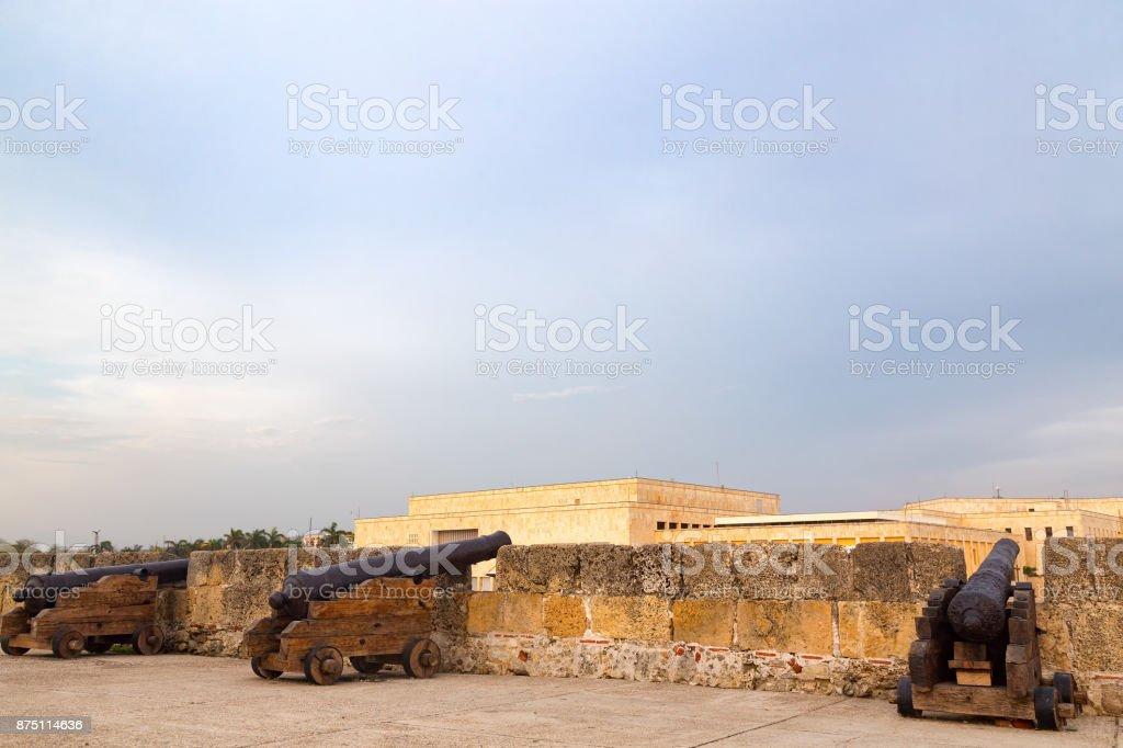 Centro cannons stock photo