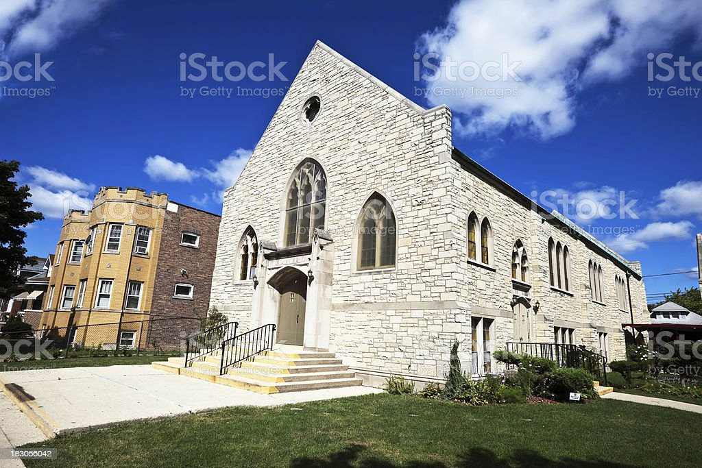 Centro Cristiano Ebenezer Church in Belmont  Cragin,  Chicago royalty-free stock photo