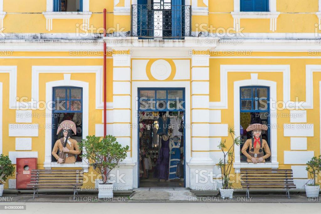 Centro de Turismo de Natal internal cangaceiro facade stock photo