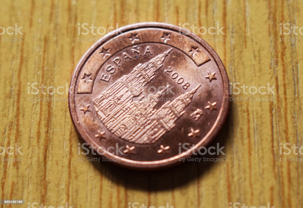 Cents of euro. stock photo