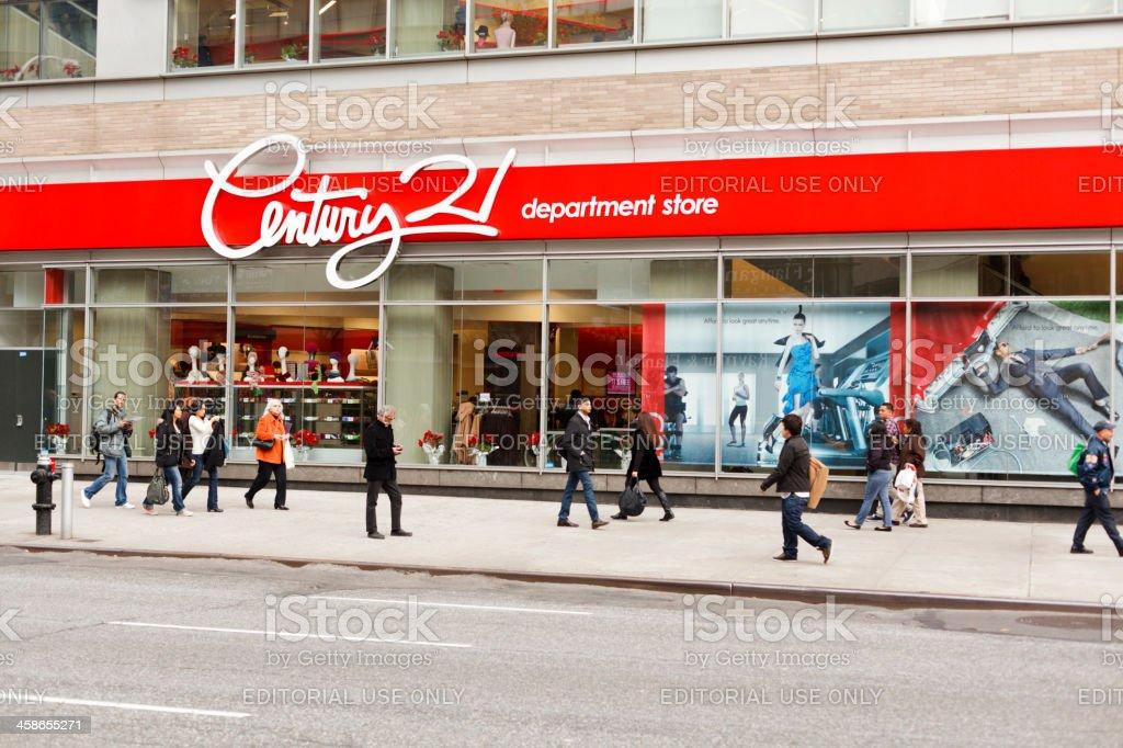 Century 21 Department Store Broadway New York City royalty-free stock photo