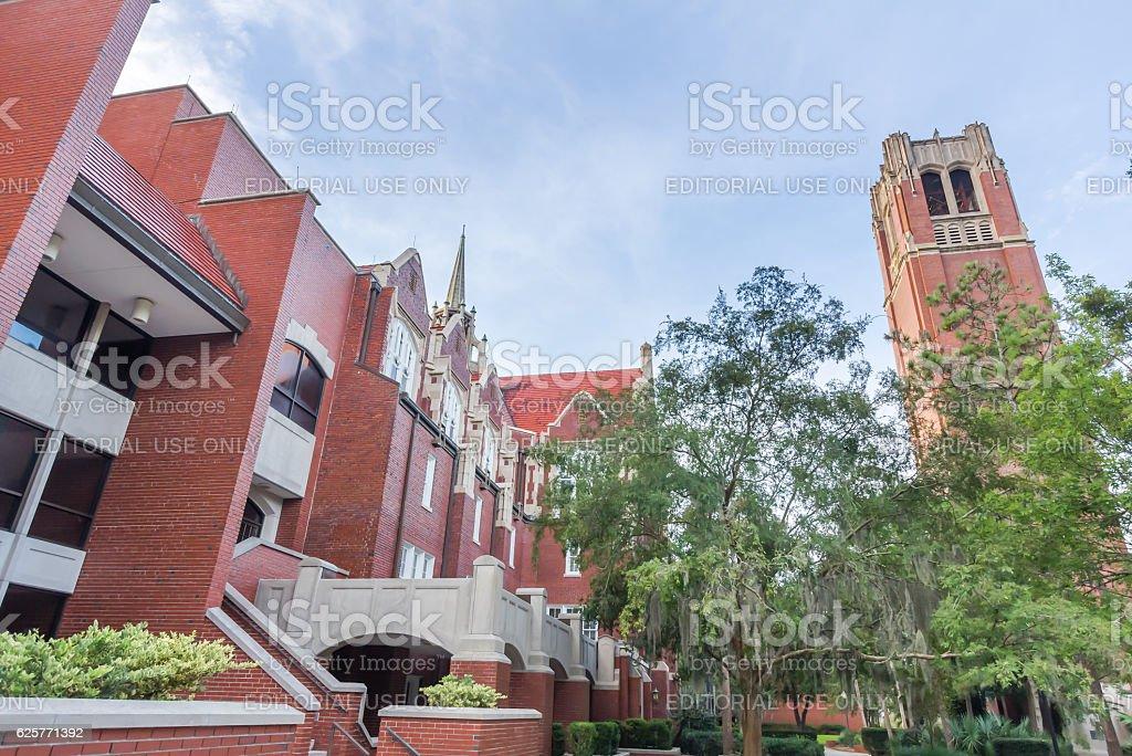 Century Tower and University Auditorium at the University of Flo stock photo