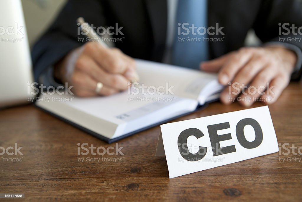 ceo making a business deal stock photo
