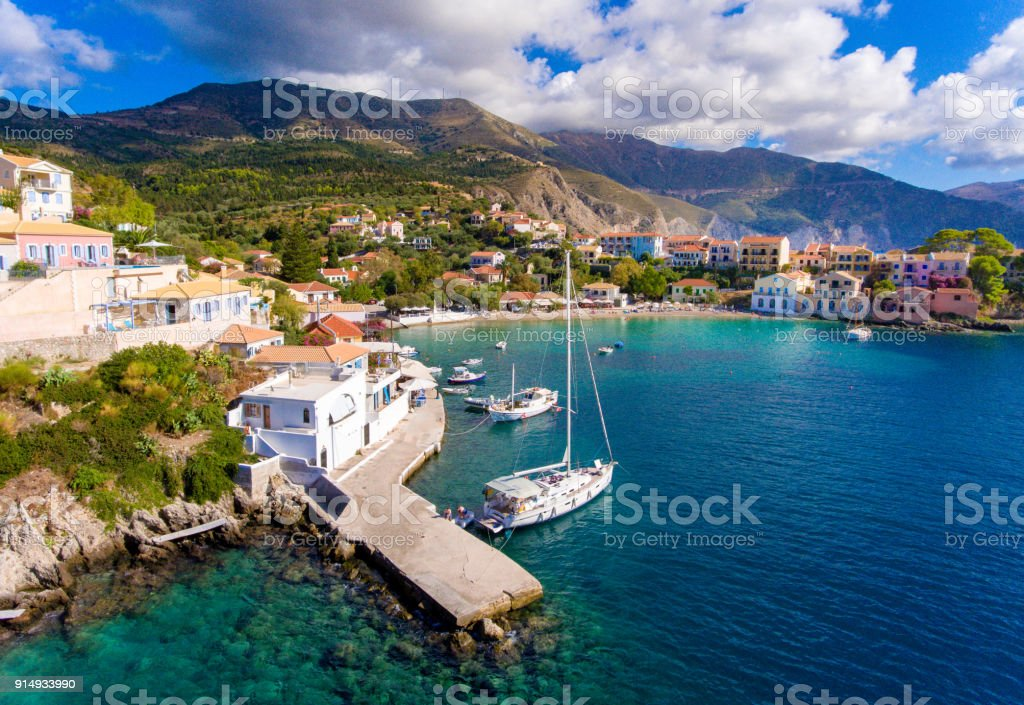 Cephalonia Assos Village in Greece stock photo