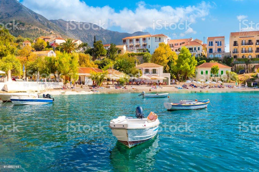 Cephalonia Island Greece Assos Village stock photo