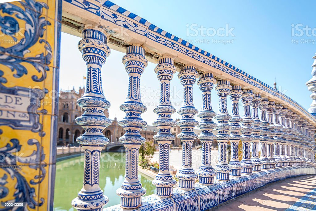 Ceramic bannister royalty-free stock photo