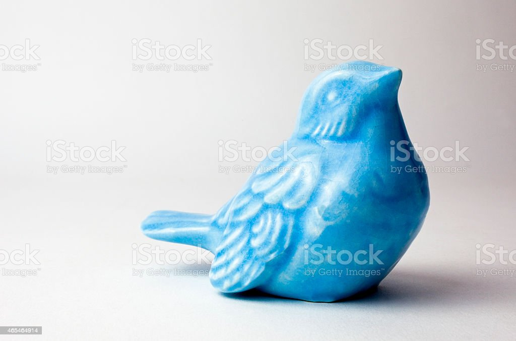 Ceramic Blue Bird stock photo