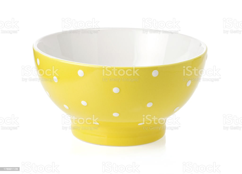 ceramic bowl isolated on white royalty-free stock photo