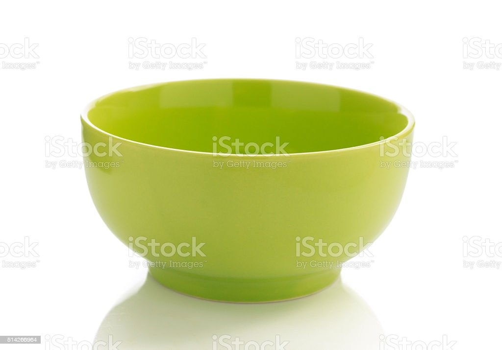 ceramic bowl isolated on white stock photo
