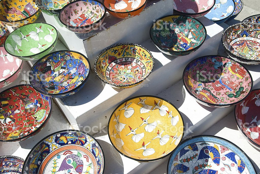 Ceramic Bowls royalty-free stock photo