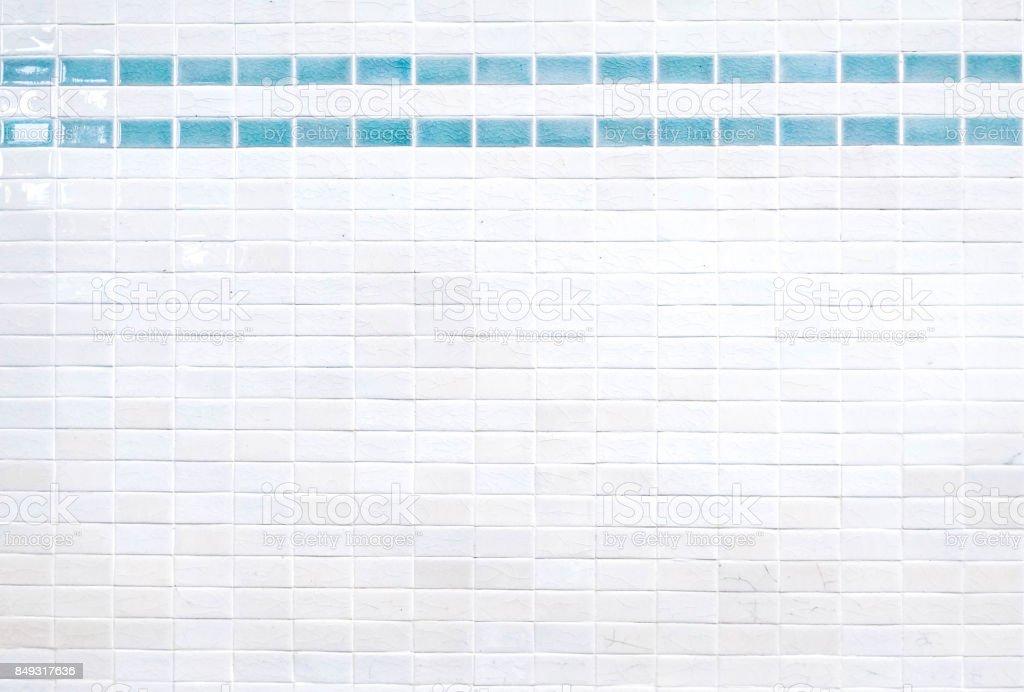 Ceramic brick tile wall stock photo