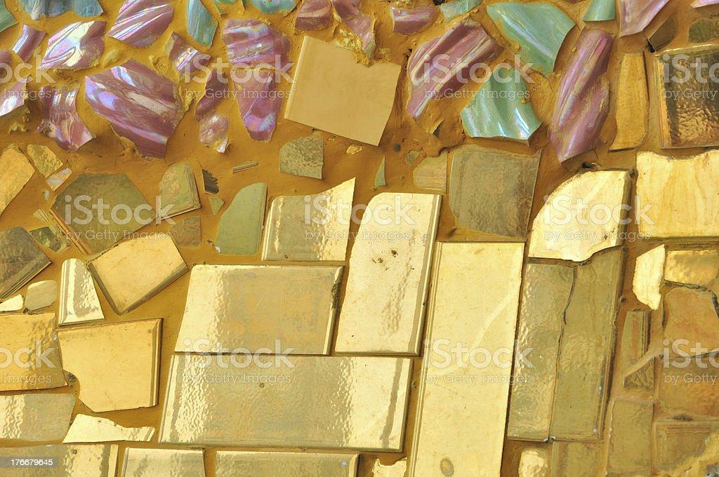 ceramic broken tile wall background royalty-free stock photo