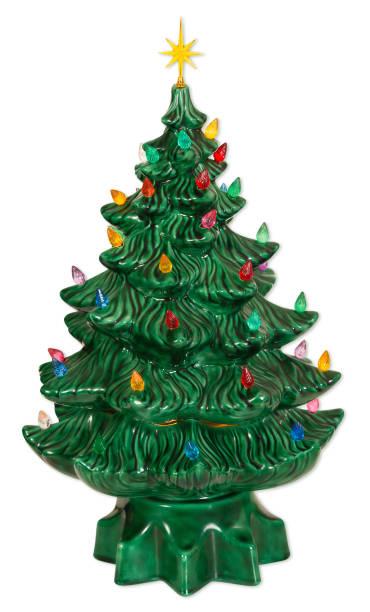 ceramic christmas tree - wyrób ceramiczny zdjęcia i obrazy z banku zdjęć