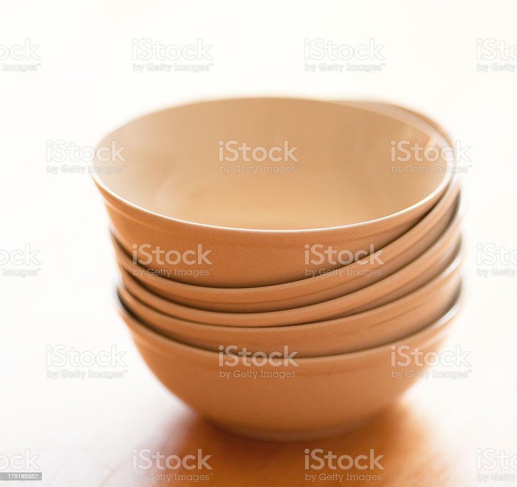 Ceramic cups stock photo
