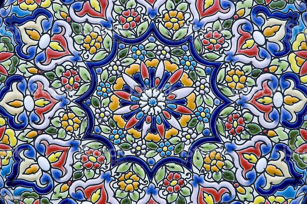 Ceramic decoration stock photo