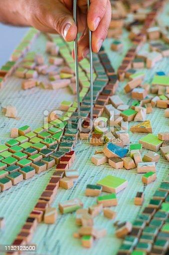 istock Ceramic design. Ceramic mosaic. 1132123500