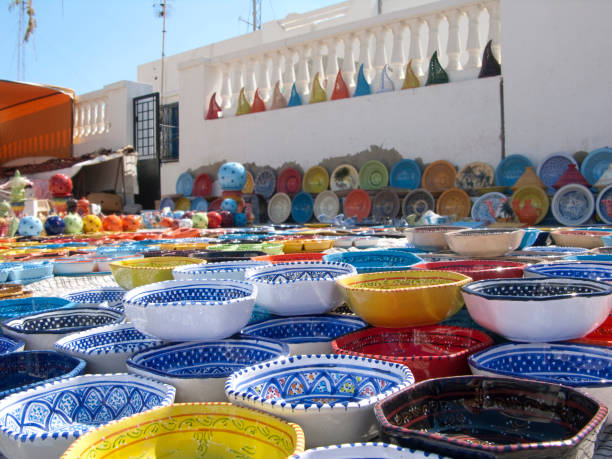Ceramic from Tunis stock photo