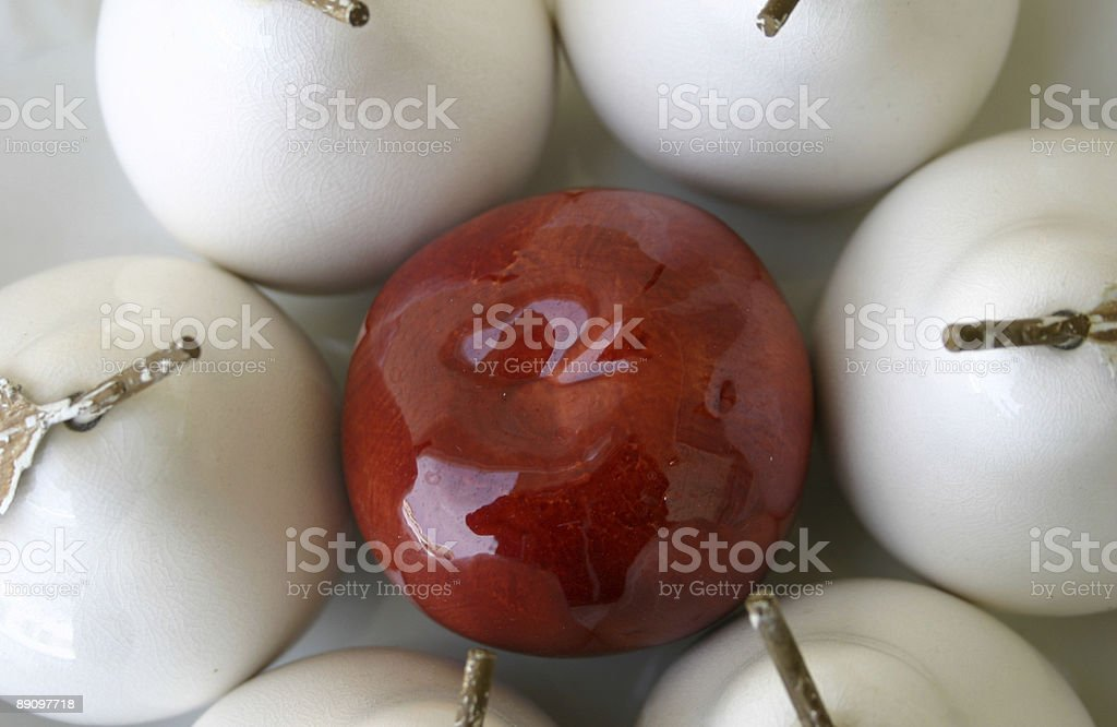 ceramic fruit in bowl royalty-free stock photo