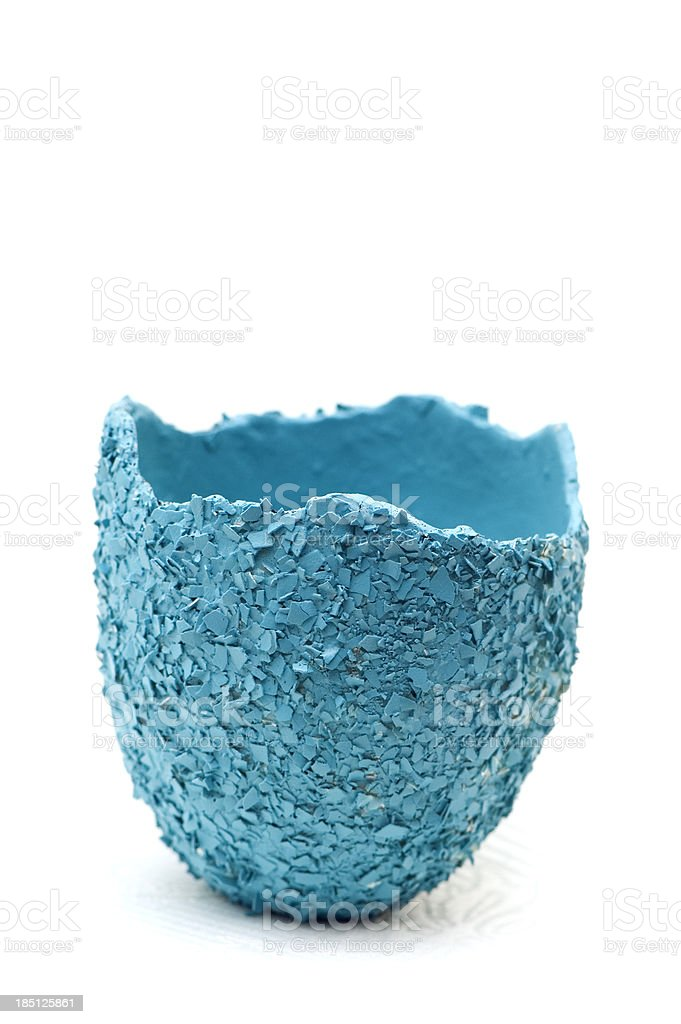 Ceramic Half of Blue Easter Egg royalty-free stock photo