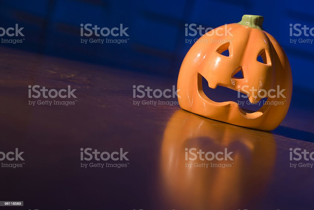 Ceramic Halloween Pumpkin royalty-free stock photo