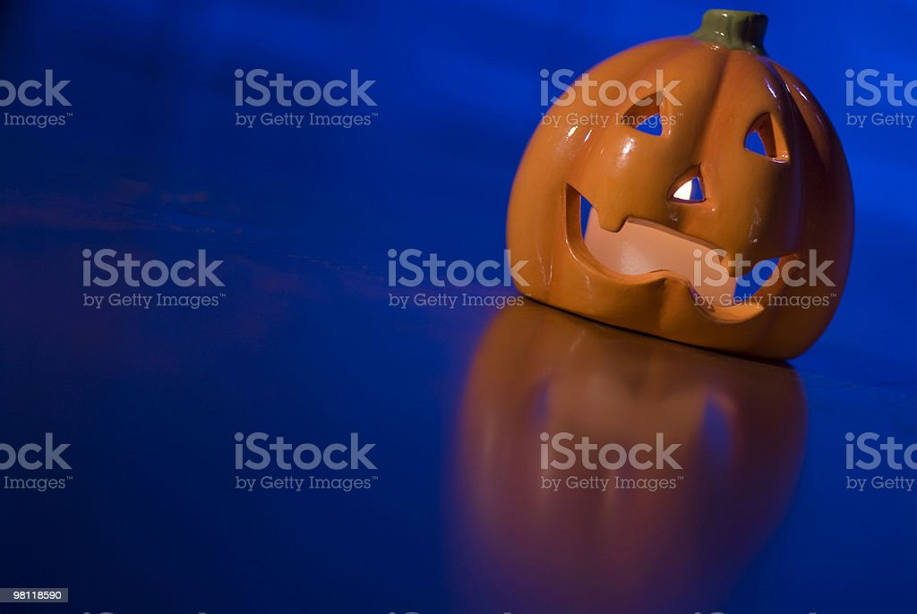 Ceramic Halloween Pumpkin royalty-free stock photo