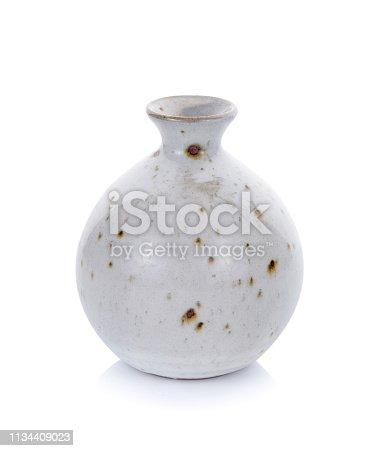 ceramic jar isolated on white background