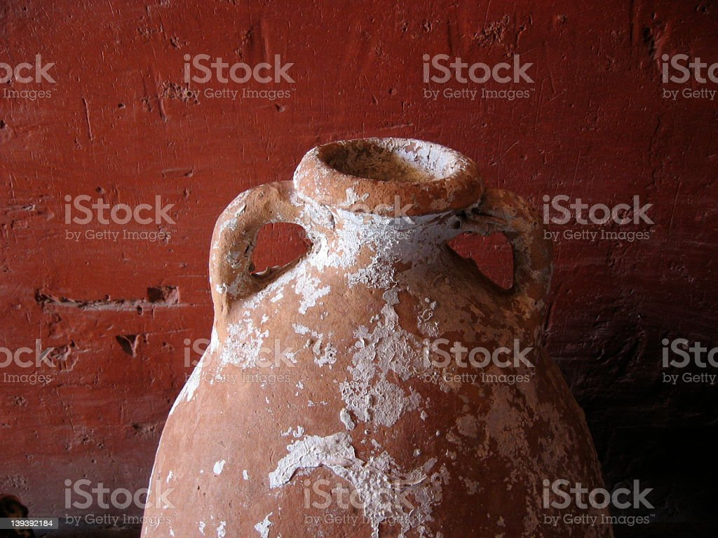 Ceramic jar royalty-free stock photo