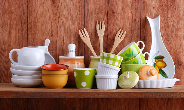 ceramic kitchen tools stock photo