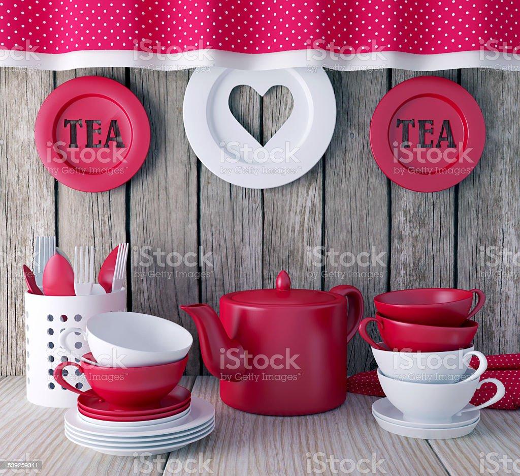 Ceramic kitchen utensils. stock photo