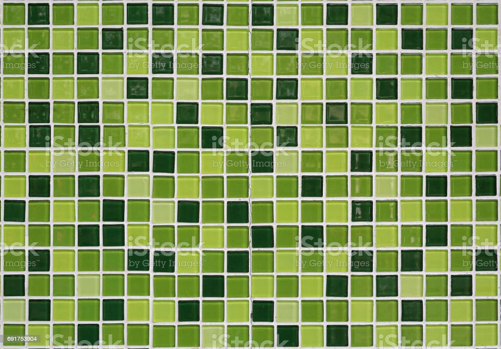 ceramic mosaic using on wall background. stock photo