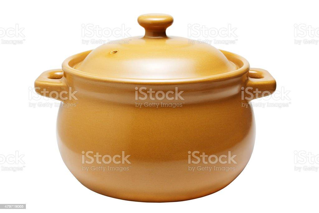 Ceramic pan stock photo