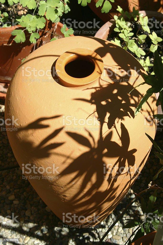 Ceramic planter royalty-free stock photo