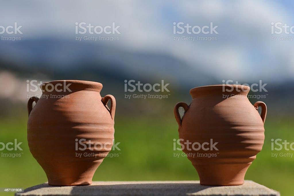 ceramic pot clay stock photo