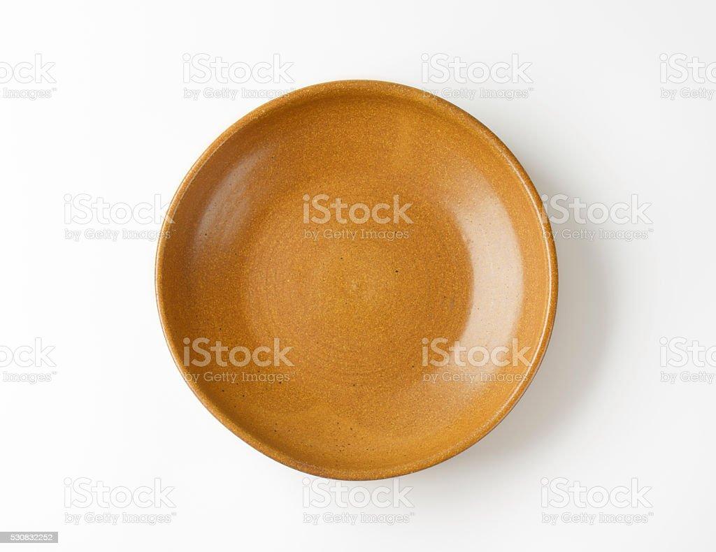 Ceramic serving bowl stock photo