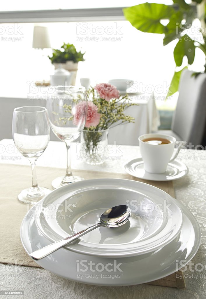 Ceramic tableware stock photo
