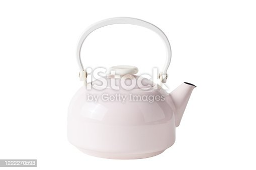 Ceramic teapot (Clipping Path) isolated on white background