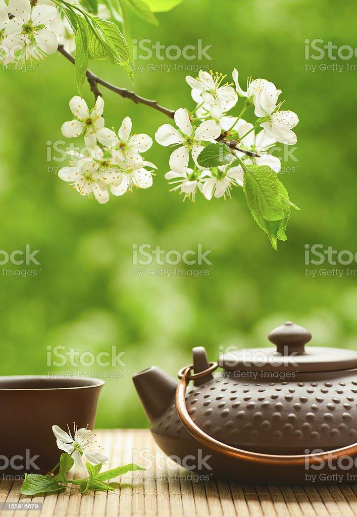 Ceramic teapot stock photo
