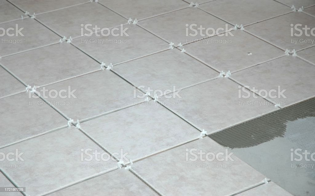 Ceramic Tile Installation royalty-free stock photo