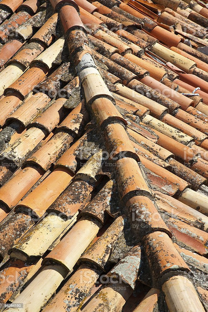 Ceramic tile rooftop  in old city, Dubrovnik, Croatia. royalty-free stock photo