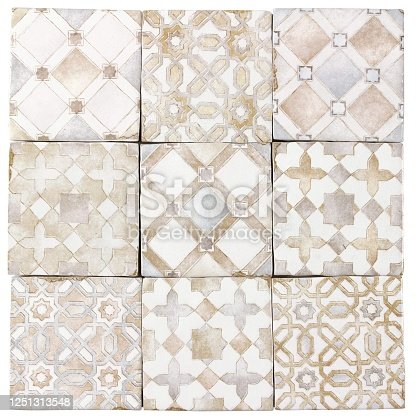 1141967162 istock photo Ceramic Tile texture in Moroccan style in beige seamless 1251313548