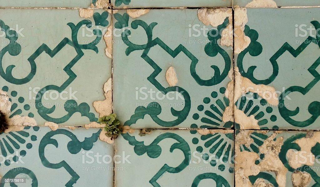 Ceramic Tiles At Penedos stok fotoğrafı