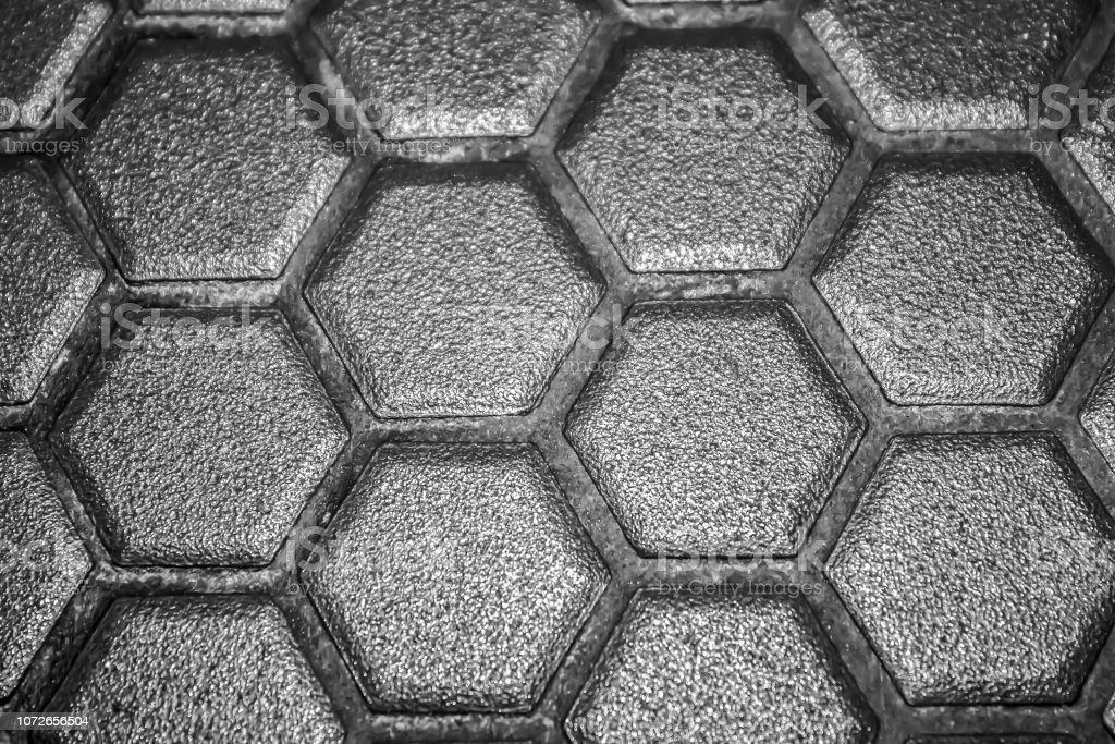 Keramik Fliesen Mosaik Aus Grauen Rhomben Ohne Fugen Die