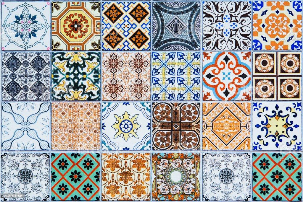 ceramic tiles patterns from Portugal. - fotografia de stock