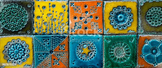 istock Ceramic tiles patterns from Portugal 992975324