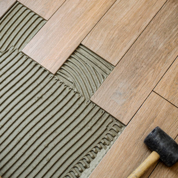 Ceramic tiles stock photo