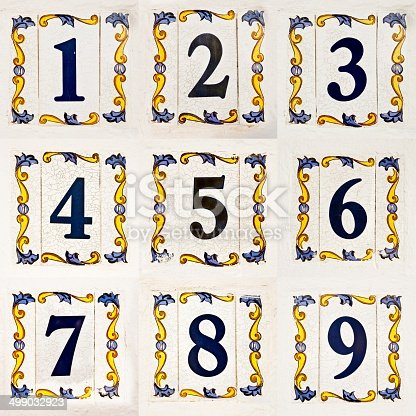 Ceramic Tiles Street Numbers Collage Stock Photo More Pictures Of - Ceramic street numbers