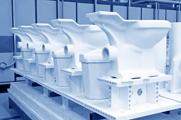 WC-Keramik-Produkte, in einer Werkstatt-Produktionslinie – Foto